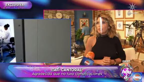 """Itatí Cantoral sobre su experiencia al contagiarse de COVID-19: """"Me espanté muchísimo"""". (Foto: captura de video)"""