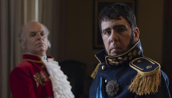 Ricardo Amayo y Fernando Poblete encarnan al virrey Joaquín de la Pezuela y al general José de San Martín, impulsores del diálogo en las Conferencias de Miraflores. (Foto: César Campos)