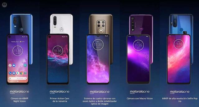 Hasta ahora, la familia Motorola One consta de cinco modelos.  No todos han llegado al mercado peruano.  (Motorola)