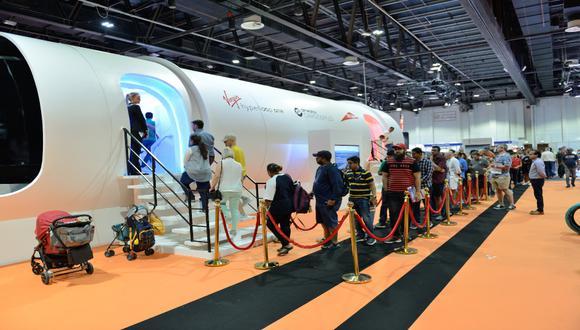 En el Dubai Motor Show del año pasado se hicieron pruebas con el público, que pudo ver el interior de la cápsula. / Foto: Shutterstock.