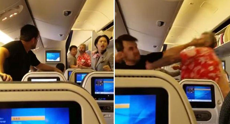YouTube: pasajeros de avión se agarran a golpes antes del vuelo