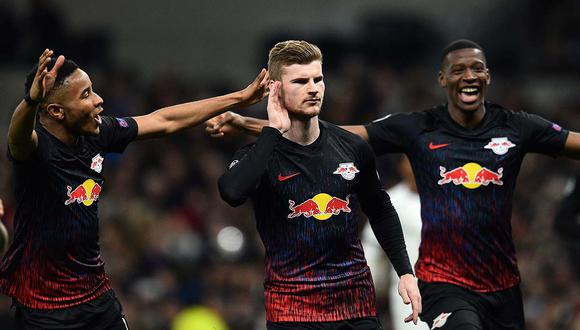Tottenham vs. Leipzig: Werner anotó el único gol a los 58' a favor de los alemanes. (AFP)