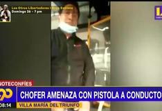 VMT: Conductor amenaza con arma a otro chofer tras choque