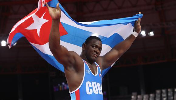 JMijaín López conquistó la medalla de oro en la división de 130 kg en Tokio 2020. (Foto: EFE)