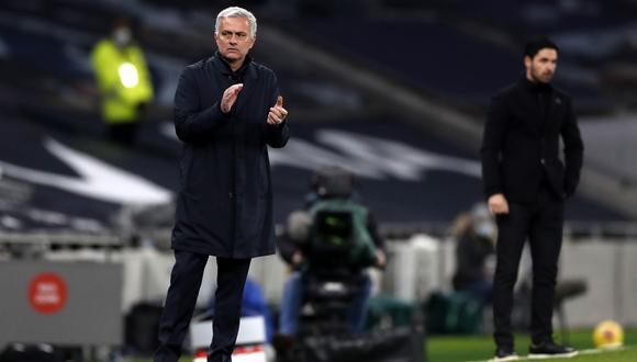 José Mourinho elogió a Mikel Arteta luego del Tottenham vs. Arsenal por la Premier League   Foto: EFE