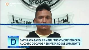 "PNP Captura a banda criminal ""Anonymous"""
