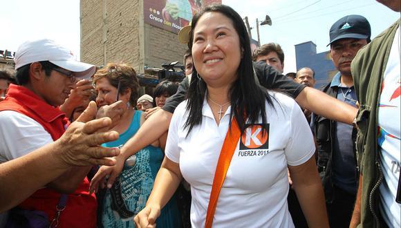 Keiko Fujimori en una visita a la ciudad de Trujillo durante la campaña presidencial del 2011. (Foto de archivo: Lino Chipana/El Comercio).