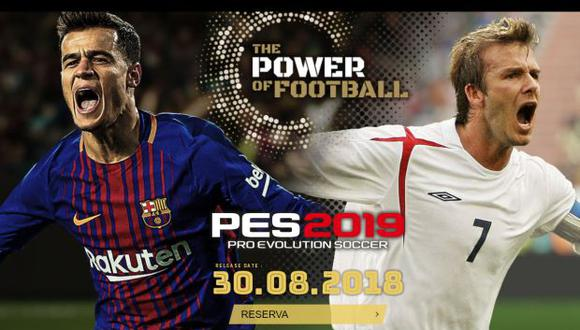Phillipe Coutinho y David Beckham son dos de las figuras del nuevo título de Konami. (Foto: Konami)