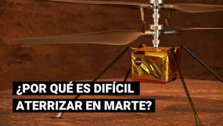¿Por qué es tan difícil que el robot Perseverance aterrice en Marte?