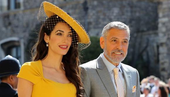 George y Amal Clooney en la boda del príncipe Harry y Meghan Markle en Windsor, Inglaterra. (Foto: AFP)