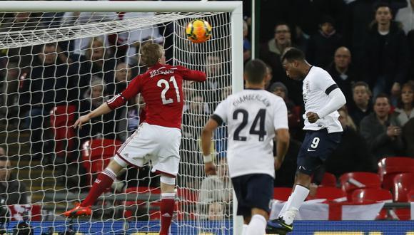 Inglaterra derrotó 1-0 a Dinamarca con gol de Daniel Sturridge