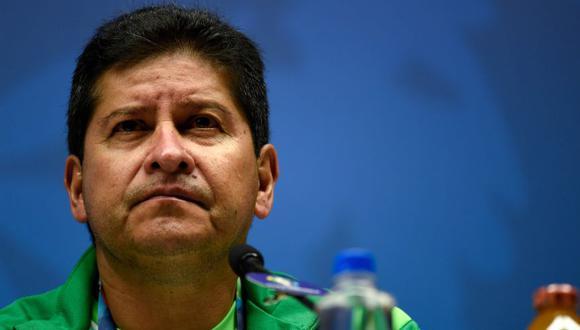 Villegas evitó responder al presidente de la Federación Boliviana de Fútbol.(Foto: AFP)