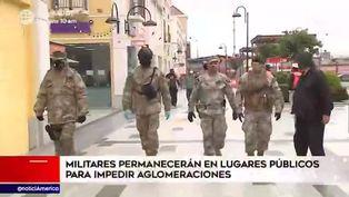 Militares impedirán aglomeraciones en lugares públicos