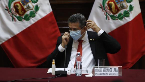 Líderes parlamentarios califican al presidente del Congreso, Manuel Merino, y a sus propias bancadas, con poca autocrítica sobre primer tramo de su gestión. (Foto: Hugo Pérez/GEC)