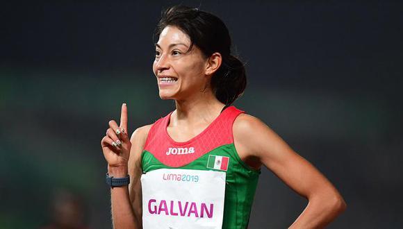Mexicana Laura Galván ganó la medalla de oro en los 5 mil metros en Lima 2019 | Foto: Agencias