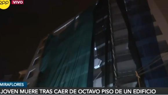 Subgerencia de Fiscalización y Control de Miraflores paralizó la obra por medidas de seguridad. Foto: captura RPP Noticias
