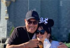 Daniela Darcourt y Tito Nieves de paseo en Walt Disney World Resort