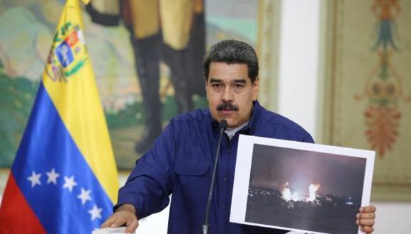 """Apagón en Venezuela: Nicolás Maduro dice que atraparon a dos autores del """"sabotaje"""" que causó el masivo corte de energía. (AFP)."""