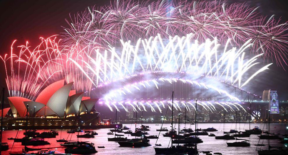 Australia recibió así el Año Nuevo 2020. (AFP / PETER PARKS).