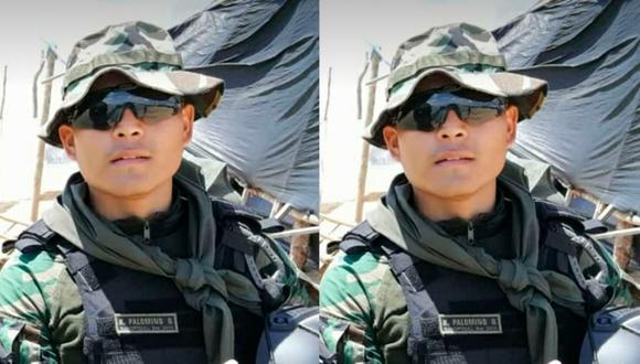 El suboficial S2 PNP Cristher Kevin Palomino García (26) prestaba servicios de control en el destacamento de la base Mega 12, en la zona de la Pampa. (Foto: GEC)