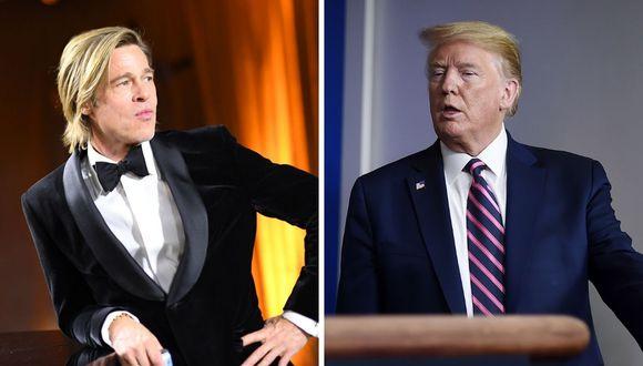 El actor Brad Pitt parodió al presidente estadounidense Donald Trump luego que afirmara que se podía inyectar desinfectante a los pacientes con COVID-19. (AFP).