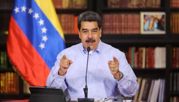 Nicolás Maduro durante una prensa en Caracas, Venezuela. (Foto: EFE / EPA / Miraflores).