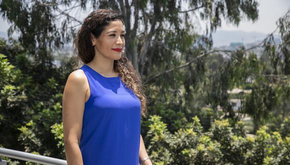 Denisse Aliaga, de 38 años, ha sido reconocida en la categoría Joven Empresaria en los premios LEC 2021. (Foto: Eduardo Cavero)