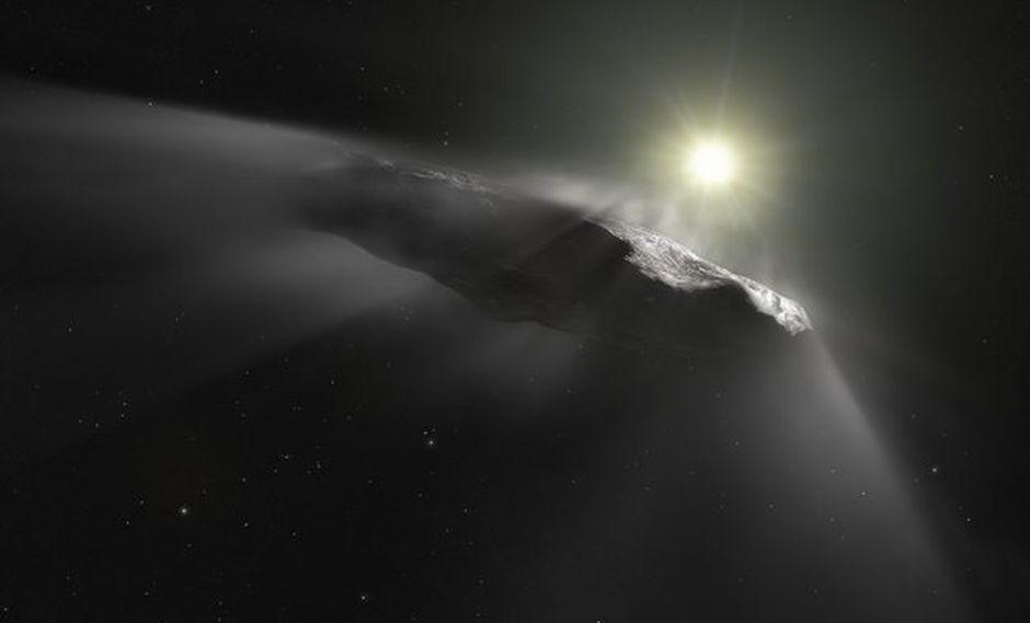 Representación artística de 'Oumuamua'. (Foto: ESA)