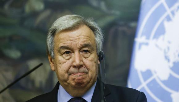 El secretario general de la ONU Antonio Guterres. (Foto: MAXIM SHEMETOV / POOL / AFP).