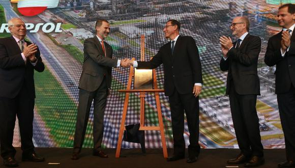 El Presidente Martín Vizcarra y el Rey de España, Felipe VI, visitaron la Refinería La Pampilla de Repsol.