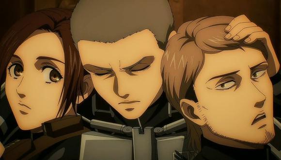 """""""Attack on Titan"""" (""""Shingeki no Kyojin""""), minutos antes de la tragedia del episodio ocho de la temporada final. Foto: Crunchyroll."""