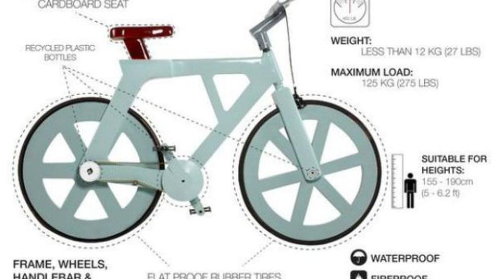 Una bicicleta de cartón, una particular opción de transporte - 2