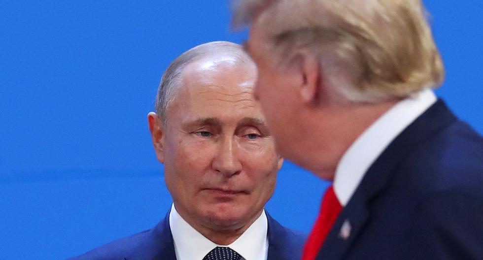 Vladimir Putin y Donald Trump durante la cumbre del G20 en Argentina el 30 de noviembre del 2018. (REUTERS/Marcos Brindicci).