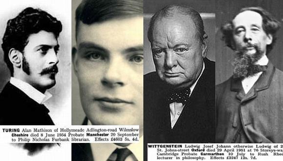 Gobierno británico publica testamentos de célebres personajes