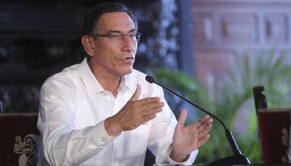 Presidente Martín Vizcarra anunció, en Palacio de Gobierno, las nuevas restricciones que se impondrás para frenar el avance del coronavirus en el Perú  (Foto: Presidencia)
