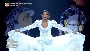 Reinas del Show: Korina Rivadeneira deslumbra con baile de marinera norteña