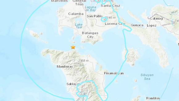 El sismo se localizó a 109 kilómetros de profundidad y no se ha activado la alerta de tsunami. (Foto: USGS).
