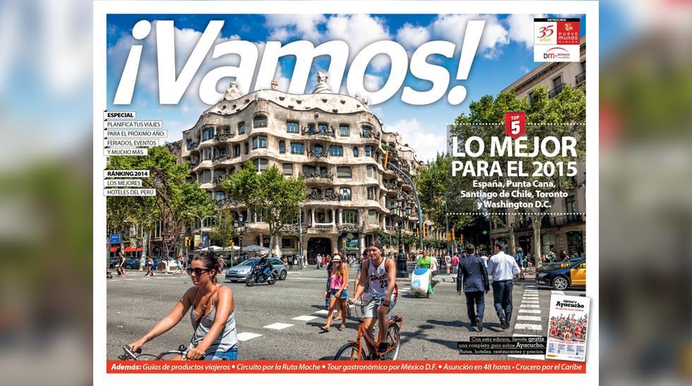 Viaja este 2015 con la nueva edición de tu revista ¡Vamos! - 1