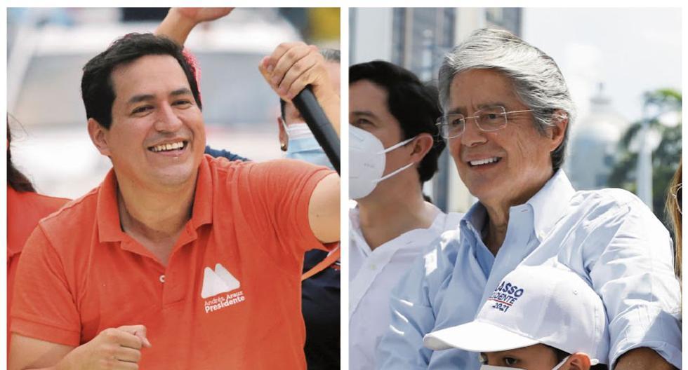 Andrés Arauz y Guillermo Lasso aspiran a suceder a Lenín Moreno en la presidencia de Ecuador. Los analistas afirman que la polarización se ha centrado en torno al exmandatario Rafael Correa. (Foto: Reuters)