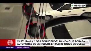 La Molina: capturan a delincuentes que robaban autopartes
