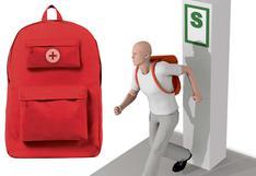 Sismos: ¿Qué es la mochila de emergencia y qué debe contener? | INFOGRAFÍA