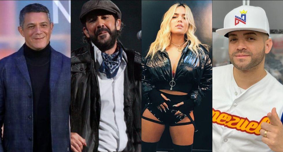 Alejandro Sanz, Juan Luis Guerra, Karol G y Nacho son algunos cantantes que enviaron su mensaje de apoyo. (Foto: Composición/EFE/Instagram)