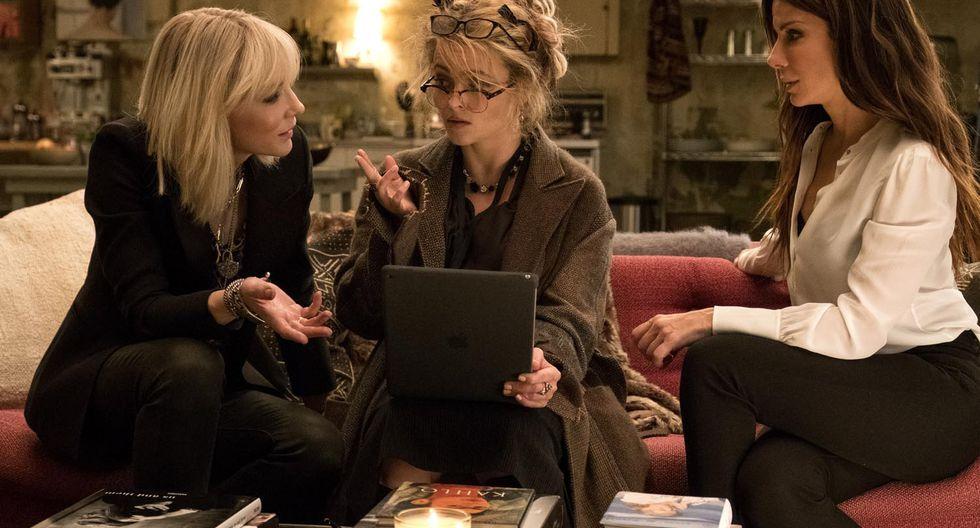 """Cate Blanchett, Helena Bonham Carter y Sandra Bullock en """"Ocean's 8"""". (Foto: Difusión)"""