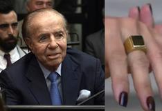 Familia de presunto ladrón devuelve el anillo de oro del expresidente argentino Carlos Menem