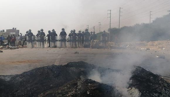 Chao y Virú, dos zonas de alto tránsito de camiones de carga con productos agrícolas, se han convertido en el escenario de bloqueos y enfrentamientos (Foto: José Noriega)