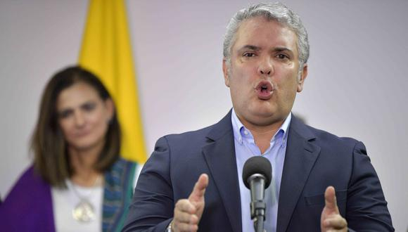 El presidente de Colombia Iván Duque autoriza al sector privado la compra de vacunas contra el coronavirus. (Foto: Raul ARBOLEDA / AFP).