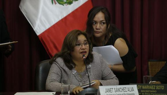 Janet Sánchez recordó que el grupo que preside está por resolver casos como los de Salaverry y Becerril. (Foto: GEC)