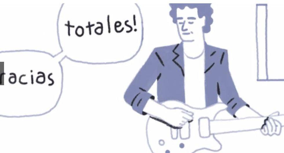 El 11 de agosto de 2015, fecha del natalicio del músico argentino Gustavo Cerati (1959-2014), Google diseñó un doodle animado. (Captura de pantalla)