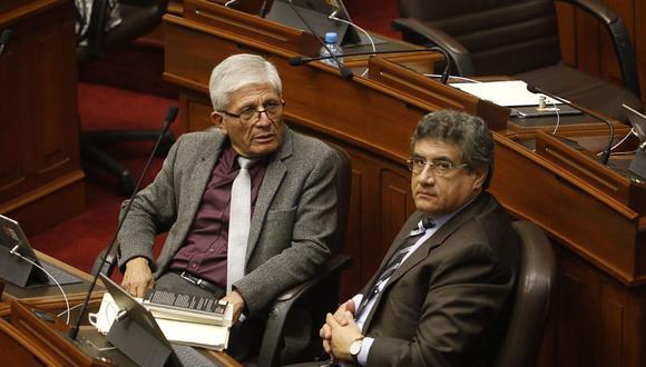 Juan Sheput indicó que Jorge Castro aceptó solicitud de la bancada de Concertación Parlamentaria para que debe de ser el vocero alterno.  (Foto: Piko Tamashiro/ GEC)