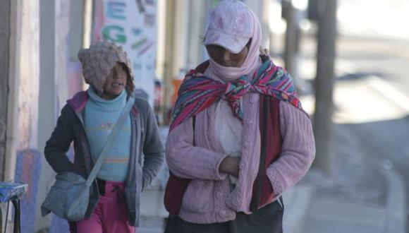 Senamhi: baja temperatura y fuertes vientos afectarán la sierra